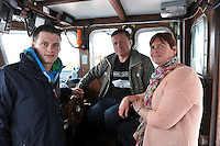 Jimmy, Bridget and Colm Flannery who operate the boats to see Fungie The Dingle Dolphin who is celebrating 30 years in Dingle Harbour this weekend..Picture by Don MacMonagle