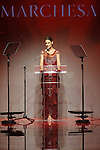 Actress Katie Holmes hosts the Red Dress Collection 2017 fashion show, for The American Heart Association, presented by Macy's at the Hammerstein Ballroom in New York City on February 9, 2017; during New York Fashion Week Fall 2017.