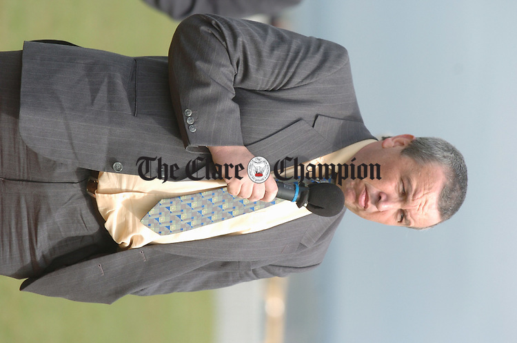 Clare GAA Chairman Michael Mc Donagh. Photograph by John Kelly.