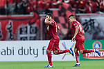 Shanghai FC Forward Givanildo Vieira De Sousa (Hulk) (L) celebrating his score with Elkeson De Oliveira Cardoso (R) during the AFC Champions League 2017 Round of 16 match between Shanghai SIPG FC (CHN) vs Jiangsu FC (CHN) at the Shanghai Stadium on 24 May 2017 in Shanghai, China. Photo by Marcio Rodrigo Machado / Power Sport Images