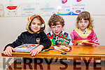 Moyderwell NS 2nd class students, Caoimhe Sommers, Robert Curtin and Julia Gasginova dressed as their favourite book character at the school on Friday.<br />  Multiply disability class - MD class