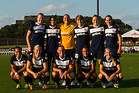 Sky Blue FC starting XI. Sky Blue FC defeated the Washington Spirit 1-0 during a National Women's Soccer League (NWSL) match at Yurcak Field in Piscataway, NJ, on August 3, 2013.