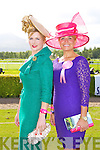 Aoife O'Carroll Killarney and Laura Bet Molloy Killarney who were finialists in the best dressed lady at the Killarney Races on Saturday