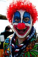 Even clowns are having a blast at the culture festival day! Photo: Fredrik Sahlström/Scouterna