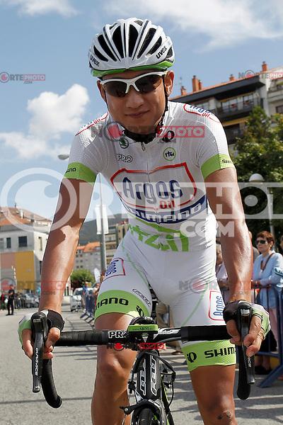 Cheng Ji during the stage of La Vuelta 2012 between Vilagarcia de Arousa and Mirador de Erazo (Dumbria).August 30,2012. (ALTERPHOTOS/Acero) /NortePhoto.com<br /> <br /> **CREDITO*OBLIGATORIO** <br /> *No*Venta*A*Terceros*<br /> *No*Sale*So*third*<br /> *** No*Se*Permite*Hacer*Archivo**<br /> *No*Sale*So*third*