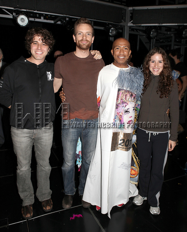 Josh Young, Paul Nolan, Mark Cassius & Chilina Kennedy.attending the Opening Night Actors' Equity Gypsy Robe Ceremony for Recipient Mark Cassius from 'Jesus Christ Superstar' at the Neil Simon Theatre, New York City. 3/22/2012
