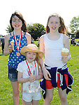 Aoife Leddy and Aoife and Eleanor McHugh pictured at Tullyallen sports day. Photo: Colin Bell/pressphotos.ie