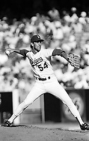 Tim Leary of the Los Angeles Dodgers during a 1989 season game at Dodger  Stadium in Los Angeles,California.(Larry Goren/Four Seam Images)