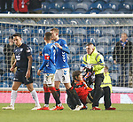27.02.2019: Rangers v Dundee: Pitch invader restrained at full time