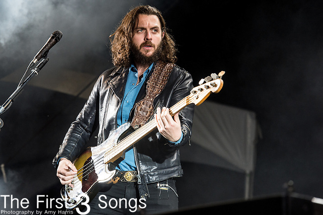 Nick O'Malley of Arctic Monkeys performs at the Outside Lands Music & Art Festival at Golden Gate Park in San Francisco, California.