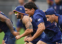 Anthony Gelling ( centre )<br /> Vodafone Warriors training session. NRL Rugby League. Mt Smart Stadium, Auckland, New Zealand. Thursday 8 February 2018 &copy; Copyright Photo: Andrew Cornaga / www.photosport.nz