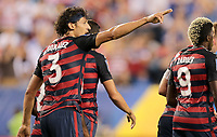 Philadelphia, PA - Wednesday July 19, 2017: Omar Gonzalez celebrates his goal during a 2017 Gold Cup match between the men's national teams of the United States (USA) and El Salvador (SLV) at Lincoln Financial Field.