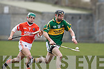 Kerry's John Egan and Armagh's Barry Breen.