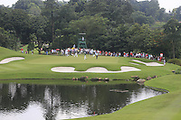 The 12th green during Round 3 of the CIMB Classic in the Kuala Lumpur Golf & Country Club on Saturday 1st November 2014.<br /> Picture:  Thos Caffrey / www.golffile.ie
