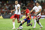 Spain's David Silva and Georgia's Chanturia during the up match between Spain and Georgia before the Uefa Euro 2016.  Jun 07,2016. (ALTERPHOTOS/Rodrigo Jimenez)