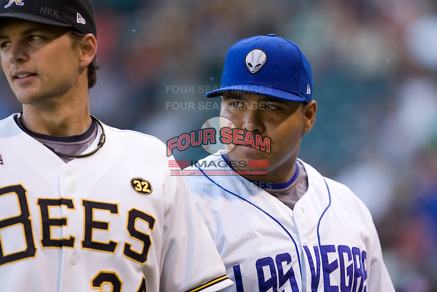 July 15, 2009: Randy Ruiz of the Las Vegas 51s during the 2009 Triple-A All-Star Game at PGE Park in Portland, Oregon.