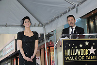 LOS ANGELES - NOV 9:  Sarah Silverman, Jimmey Kimmel at the Sarah Silverman Star Ceremony on the Hollywood Walk of Fame on November 9, 2018 in Los Angeles, CA