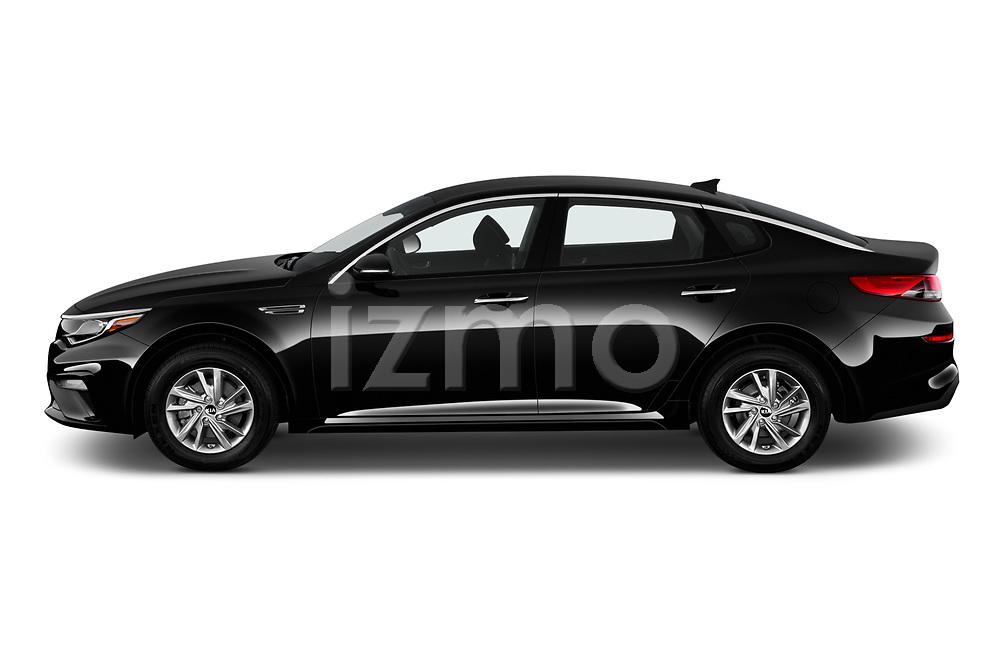 Car Driver side profile view of a 2020 KIA Optima LX 4 Door Sedan Side View