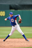 Chase Fullington (20) of Farragut High School in Knoxville, Tennessee playing for the Chicago Cubs scout team during the East Coast Pro Showcase on July 31, 2014 at NBT Bank Stadium in Syracuse, New York.  (Mike Janes/Four Seam Images)