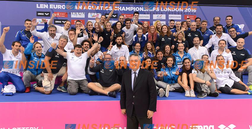 TEAM ITALY<br /> London, Queen Elizabeth II Olympic Park Pool <br /> LEN 2016 European Aquatics Elite Championships <br /> Swimming<br /> Day 14 22-05-2016<br /> Photo Andrea Staccioli/Deepbluemedia/Insidefoto