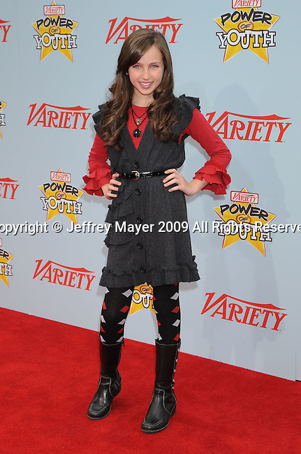 """HOLLYWOOD, CA. - December 05: Ryan Newman arrives at Variety's 3rd annual """"Power of Youth"""" event held at Paramount Studios on December 5, 2009 in Los Angeles, California."""