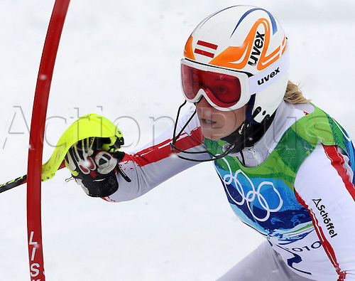 26 02 2010 Copyright Actionplus/GEPA Pictures . 2010 Vancouver Winter Olympic Games. Whistler Canada 26 Feb 10  Ski Alpine Slalom for women Picture shows Michaela Kirchgasser AUT .  Photo : Imago/Actionplus. Editorial Use UK.