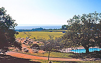 Santa Cruz CA:  UCSC--Stevenson College, view from terrace.  Photo '83.