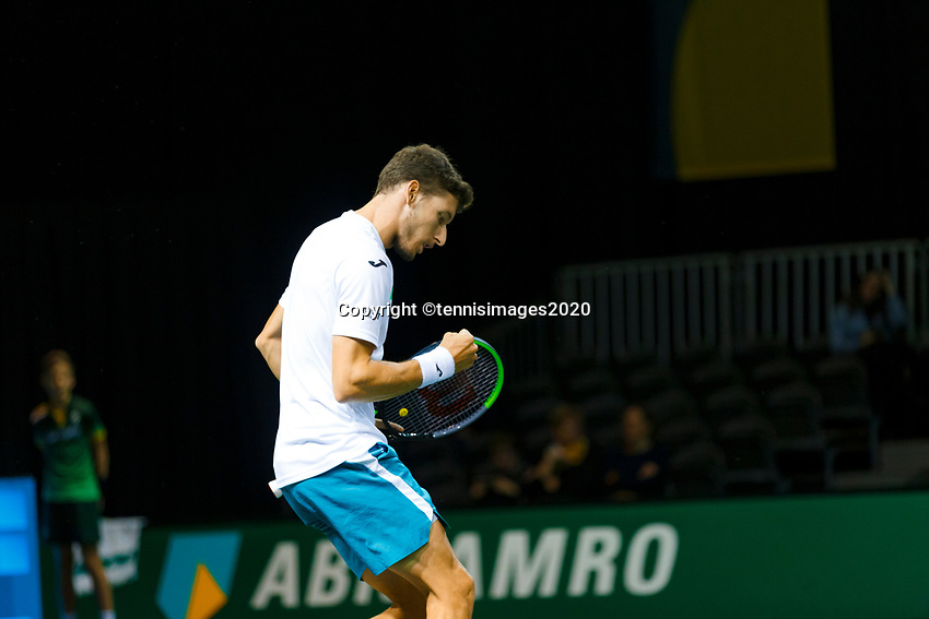Rotterdam, The Netherlands, 12 Februari 2020, ABNAMRO World Tennis Tournament, Ahoy, Pablo Carrenos Busta (ESP).<br /> Photo: www.tennisimages.com