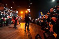 Utrecht, 5 oktober 2012.Nederlands Film Festival 2012.Gala van de Nederlandse Film.Gouden Kalf uitreiking.Jos Stelling, regisseur van 'Het Meisje en de Dood'.Gouden Kalf Beste Film..Foto Felix Kalkman