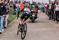 Jess Allen  of Mitchelton Scott chasing back on afer a crash during the 16th Ronde Van Vlaanderen<br /> <br /> Elite Womans Race (1.WWT)<br /> <br /> One day race from Oudenaarde to Oudenaarde<br /> ©Jojo Harper for Kramon