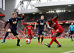 Sadio Mane of Liverpool shoots during the Premier League match at Anfield, Liverpool. Picture date: 7th March 2020. Picture credit should read: Darren Staples/Sportimage