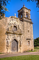 The church at Mission San Hose at the San Antonio Missions National Historic Park.