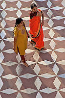 Indian Women in their colorful Sari at Taj Mahal Agra, India