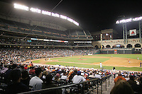 Texas Longhorns versus Rice Owls during the 2008 season at Minute Maid Park in Houston. Photo by Andrew Woolley / Four Seam Images.