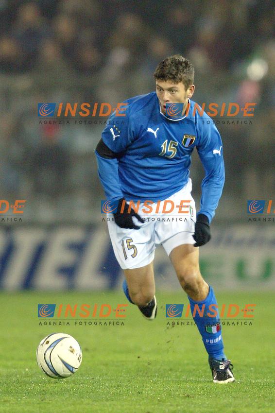 Rieti 19 Novembre 2003 Qualificazioni Campionato Europeo Under 21<br /> Italia Danimarca Under 21 0-0<br /> Massimo Donati<br /> Foto Andrea Staccioli Insidefoto