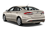Car pictures of rear three quarter view of a 2018 Ford Fusion SE 4 Door Sedan angular rear
