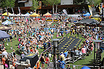 June 8, 2013:  Large crowds wander through Vail, Colorado during the GoPro Mountain Games, Vail, Colorado.  Adventure athletes from around the world converge on Vail, Colorado, June 6-9, for America's largest celebration of adventure sports, music and the mountain lifestyle.