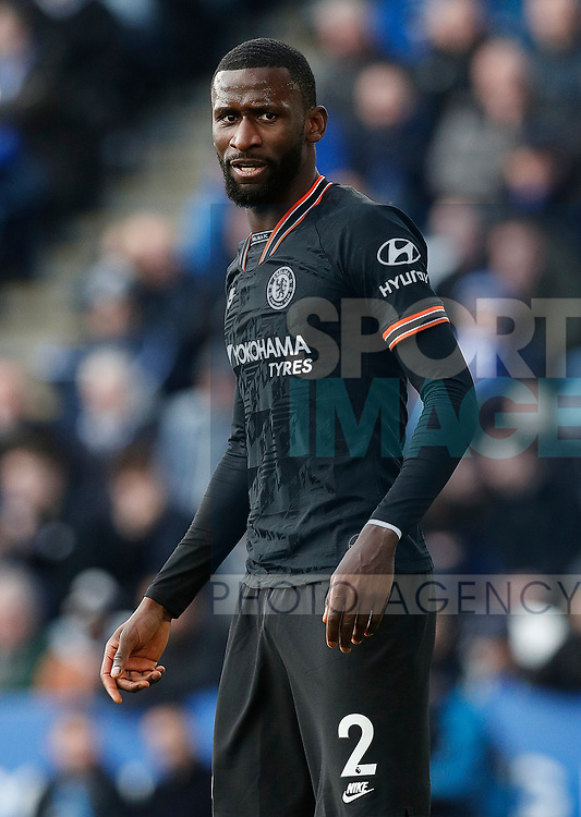 Antonio Rudiger of Chelsea during the Premier League match against Leicester City at the King Power Stadium, Leicester. Picture date: 1st February 2020. Picture credit should read: Darren Staples/Sportimage