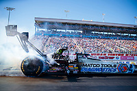 Nov 2, 2019; Las Vegas, NV, USA; NHRA top fuel driver Antron Brown during qualifying for the Dodge Nationals at The Strip at Las Vegas Motor Speedway. Mandatory Credit: Mark J. Rebilas-USA TODAY Sports