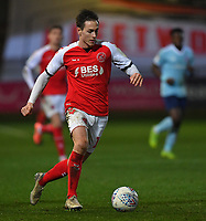 Fleetwood Town's Josh Morris<br /> <br /> Photographer Dave Howarth/CameraSport<br /> <br /> Leasing.com Trophy Northern Section Round Three - Fleetwood Town v Accrington Stanley - Tuesday 7th January 2020 - Highbury Stadium - Fleetwood<br />  <br /> World Copyright © 2018 CameraSport. All rights reserved. 43 Linden Ave. Countesthorpe. Leicester. England. LE8 5PG - Tel: +44 (0) 116 277 4147 - admin@camerasport.com - www.camerasport.com