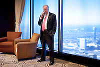 Wind and natural gas proponent T. Boone Pickens (cq) speaks on his phone during a luncheon for one of his foundations, Big Brothers Big Sisters of Dallas, in Dallas, Texas, US, Tuesday, Jan., 12, 2009. Pickens is outspoken in his claim that replacing our dependency on oil with US produced natural gas is a matter of national security...PHOTOS/ MATT NAGER