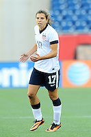 US Women's National midfielder Tobin Heath (17) in action during the International Friendly soccer match between the USA Women's National team and the Korea Republic Women's Team held at Gillette Stadium in Foxborough Massachusetts.   Eric Canha/CSM