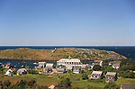 View of the village, Monhegan Island, Monhegan Plantation, Lincoln County, Maine, USA