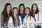 The ladies who competed for the Killarney Queen of the Regatta at the launch in the Killarney Avenue Hotel on Thursday evening were l-r: Roisin Murphy Fossa RC, Roisin Doherty Workmens RC, Fiona Tangney St brendans RC, Aine O'Sullivan Muckross RC and Illona O'Donoghue Flesk Valley RC