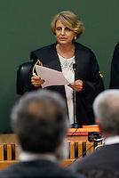 la presidente Serena Corleto legge la sentenza di condanna per Berlusconi  perla  compravendita senatori