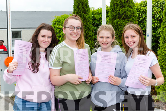 Katelynn Casey, Shannon O'Shea, Kate Hickey and Emily Cronin St Brigids Killarney Presentation delighted to finally get their Leaving Cert underway on Wednesday