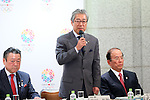 Tsunekazu Takeda, March 26, 2014 : a conference held by directors of Tokyo Organizing Committee of the Olympic and Paralympic Games <br /> in Tokyo, Japan. (Photo by Yohei Osada/AFLO SPORT)