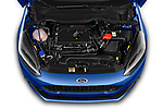 Car stock 2018 Ford fiesta st Ultimate 5 Door Hatchback engine high angle detail view