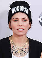 LOS ANGELES, CA, USA - NOVEMBER 23: Skylar Grey arrives at the 2014 American Music Awards held at Nokia Theatre L.A. Live on November 23, 2014 in Los Angeles, California, United States. (Photo by Xavier Collin/Celebrity Monitor)