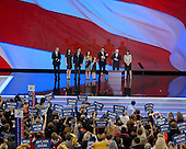 St. Paul, MN - September 3, 2008 -- Palin family on the podium after Governor Sarah Palin of Alaska accepted the Republican nomination as Vice President of the United States on day 3 of the 2008 Republican National Convention at the Xcel Energy Center in Saint Paul, Minnesota on Wednesday, September 3, 2008.Credit: Ron Sachs / CNP.(RESTRICTION: NO New York or New Jersey Newspapers or newspapers within a 75 mile radius of New York City)